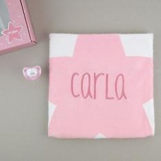 Cajita Baby Arrullo Estrellas Rosa Personalizada