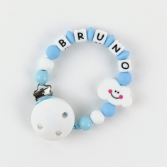 Cadenita de silicona Nube Azul Personalizada (LA NUBE ES DE COLOR AZUL)