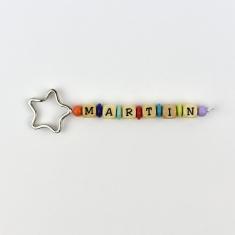 Llavero Madera Multicolor Personalizado