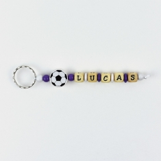 Keychain Simple Football Real Madrid Personalized