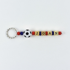Keychain Simple Football Barça Personalized