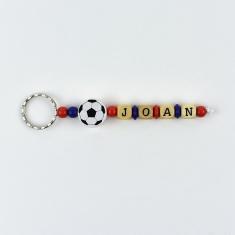 Llavero Madera Fútbol Barça Personalizado
