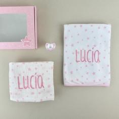 Cajita Estrellas Rosa Personalizada