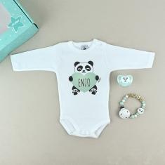 Cajita Welcome! Panda Menta personalizada