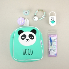 Pack El cole mola personalizado Panda Menta