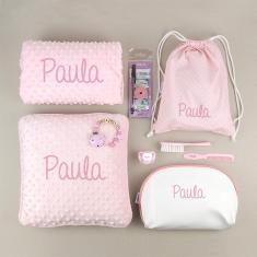 Pack Mi equipo para la Guarde Rosa personalizado + Regalo Cadenita Madera
