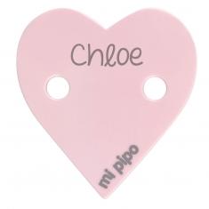 Broche Pinza Corazón Rosa Personalizado