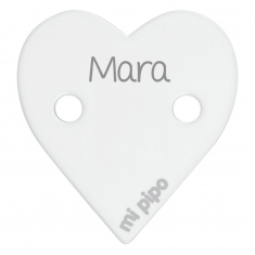 Clip-Clamp Heart Red Personalized