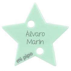 Broche Pinza Estrella Mint Personalizado