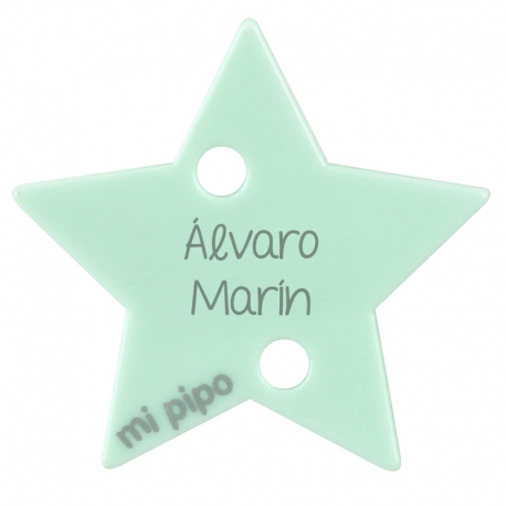 Clip-Clamp Star Gray Personalized