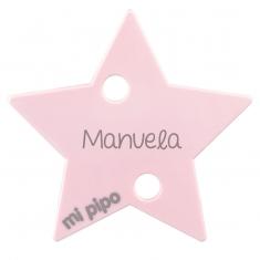 Broche Pinza Estrella Rosa Personalizado