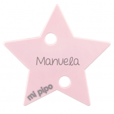 Clip-Clamp Star Pink Personalized