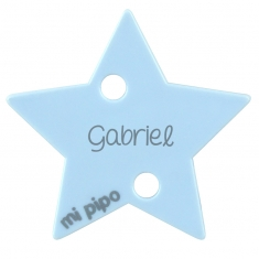 Clip-Clamp Star Light Blue Personalized