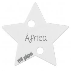 Broche Pinza Estrella Blanco Personalizado