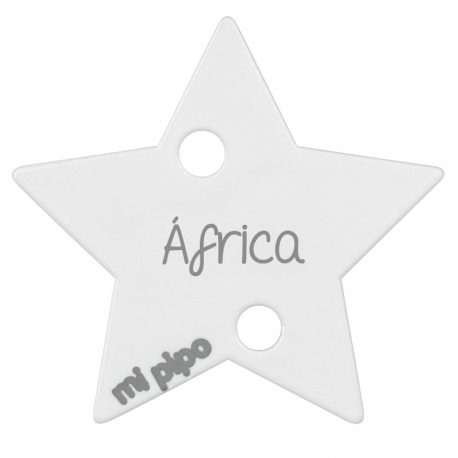 Clip-Clamp Star White Personalized