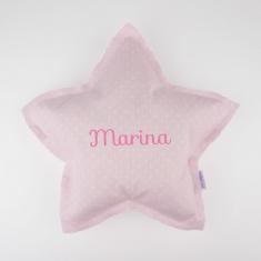 Cojín Estrella Rosa Handmade Personalizado