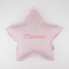 Star Pillow Pink Handmade Personalized