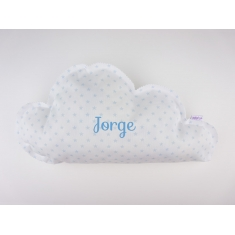 Cloud Pillow Blue Handmade Personalized