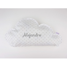 Cloud Pillow Gray Handmade Personalized