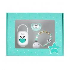Cajita My Baby Panda Menta Personalizada