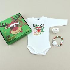 Cajita Welcome! Feliz Navidad Reno Rudolf
