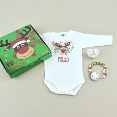 Cajita Welcome! Feliz Navidad Rudolph Personalizada