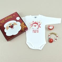 Cajita Welcome! Feliz Navidad Papá Noel Personalizada
