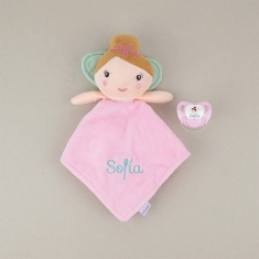 Dou Dou-Sonajero + Chupete Baby Hada Personalizados