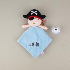 Dou Dou-Sonajero + Chupete Baby Pirata Personalizados