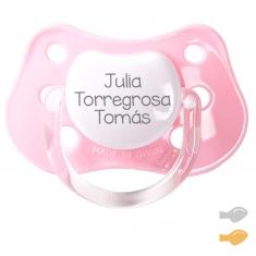 Chupete Clásico Personalizado Rosa