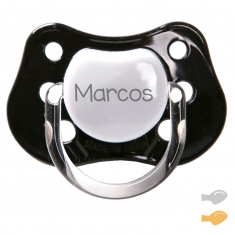 Classic Customizable Pacifier Black