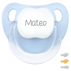 Baby Customizable Pacifier Blue Pastel