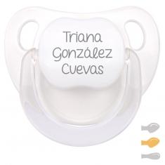 Chupete Baby Personalizado Blanco