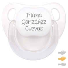 Baby Customizable Pacifier White