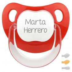 Chupete Baby Personalizado Rojo