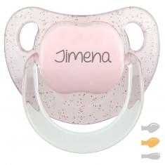 Chupete Baby Personalizado Glitter Rosa