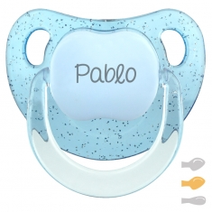 Baby Customizable Pacifier Transparent Blue Pastel