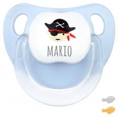 Baby Decorado Pirata Azul Personalizado
