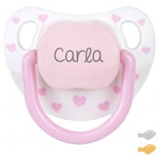 Baby Chic Blanco Rosa Personalizado