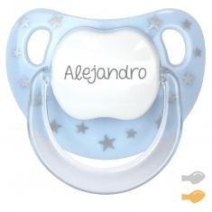 Chupete Baby Chic Azul Personalizado