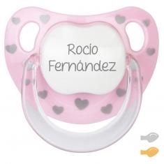Chupete Baby Chic Rosa Personalizado