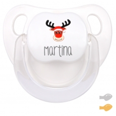 Chupete Baby Deco Reno Rudolph personalizado