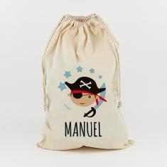 Saco para Juguetes Personalizado Pirata