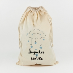 Saco para Juguetes Nube azul No personalizado