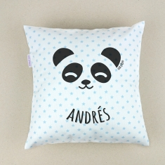Cojín cuadrado Panda personalizado