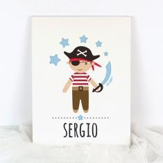 Lienzo Personalizado Pirata
