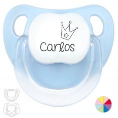 Chupete Personalizado Nombre + Corona