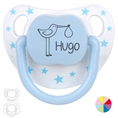 Classic Pacifier Name + Stork