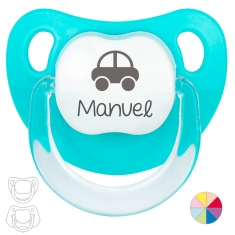 Classic Pacifier Name + Soccer Ball