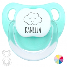 Classic Pacifier Name + Hearts